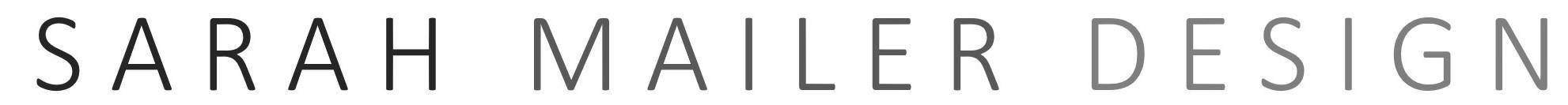 Sarah Mailer Deisgn LogoLong